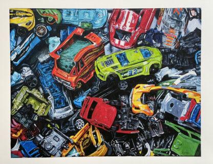Smashed Cars Print