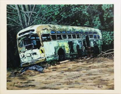 Bus 35 mounted print