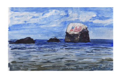 Flag Rock - Watercolor Print