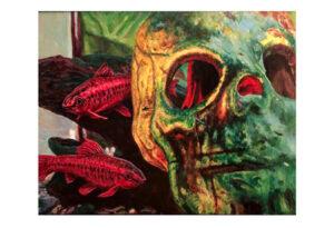 Skull Fish Print