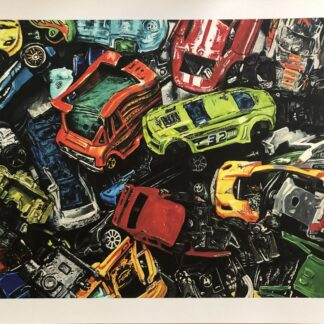 Smashed Cars print