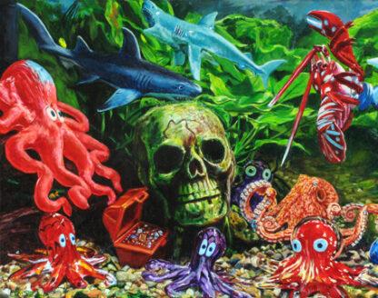 "Skull Harbor 11""x14"" Print"