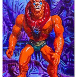 """Beast Man - 14""""x11"""" acrylic on canvas"""