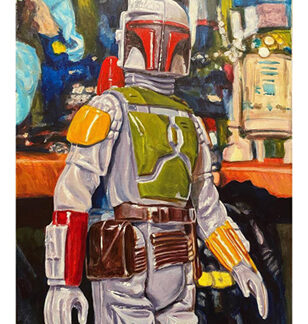 "The Bounty Hunter - Original - 18""x14"" - acrylic on canvas"