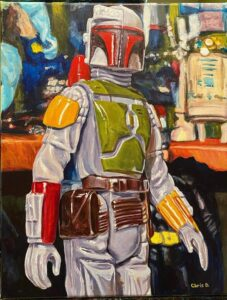 "The Bounty Hunter - Original - 18""x14"" - acrylic on canvas"