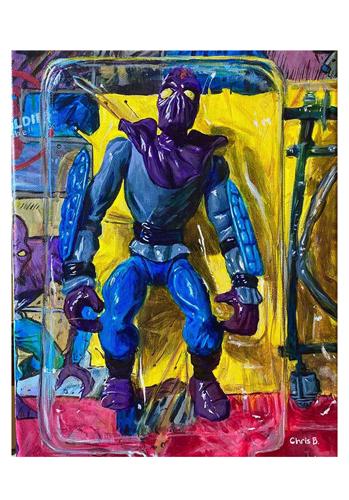 "Foot Soldier - Original - 14""x11"" - acrylic on canvas"