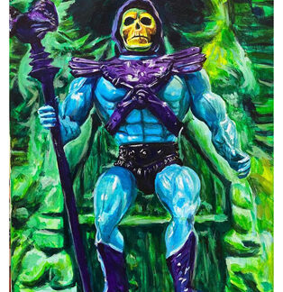 "Skeletor - 14""x11"" - acrylic on canvas"