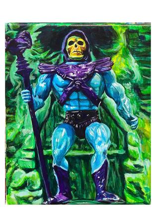"""Skeletor - 14""""x11"""" - acrylic on canvas"""