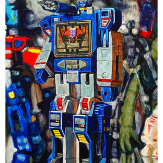 "Soundwave - Original - 16""x12"" acrylic on panel"