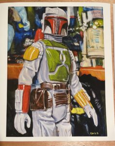 """The Bounty Hunter Print - 16""""x12"""" Giclee on Archival Hot Press Paper"""
