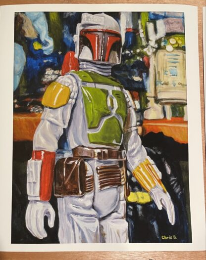 "The Bounty Hunter Print - 16""x12"" Giclee on Archival Hot Press Paper"