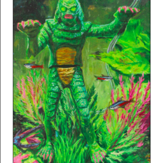 Creature From the Green Aquarium - Print
