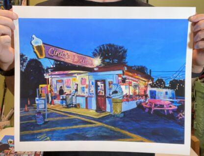 "Cindy's Drive-in giclee print 12""x16"""