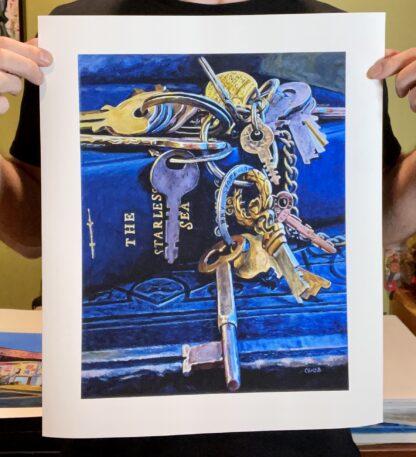 """""""The Starless Sea & Keys - Print 14"""" x 17"""" - Archival Hot Press Paper 2020"""