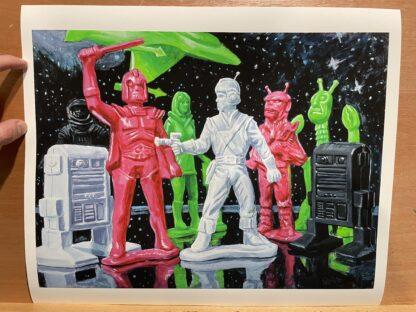 "Galaxy Laser Team giclee print 12""x16"""