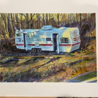 "Abandoned Camper- Print - ""7.5x11"" Archival Hot Press Paper"