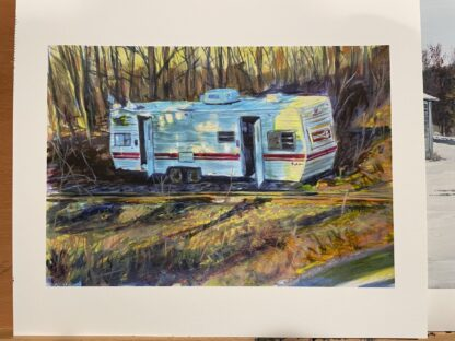 "Abandoned Camper- Print - ""7.5x11"" Archival Hot Press Paper"