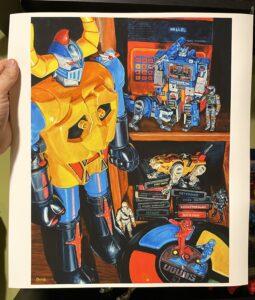"""Return of Gaiking"" - Print 16"" x 12"" - Archival Hot Press Paper Print"